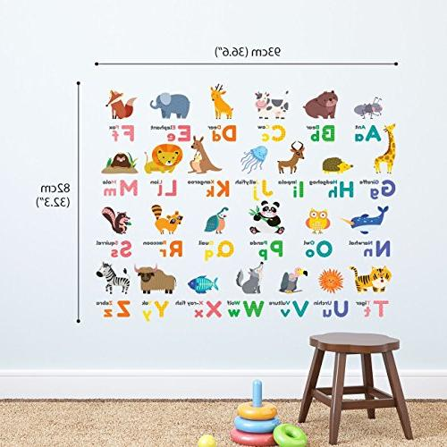 Decowall DW-1614 Alphabet and Wall Stickers for Bedroom