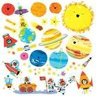 Decowall DW-1707 Planets and Space Kids Wall Decals Wall Sti
