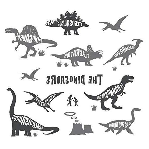 dwg dinosaurs graphic kids wall