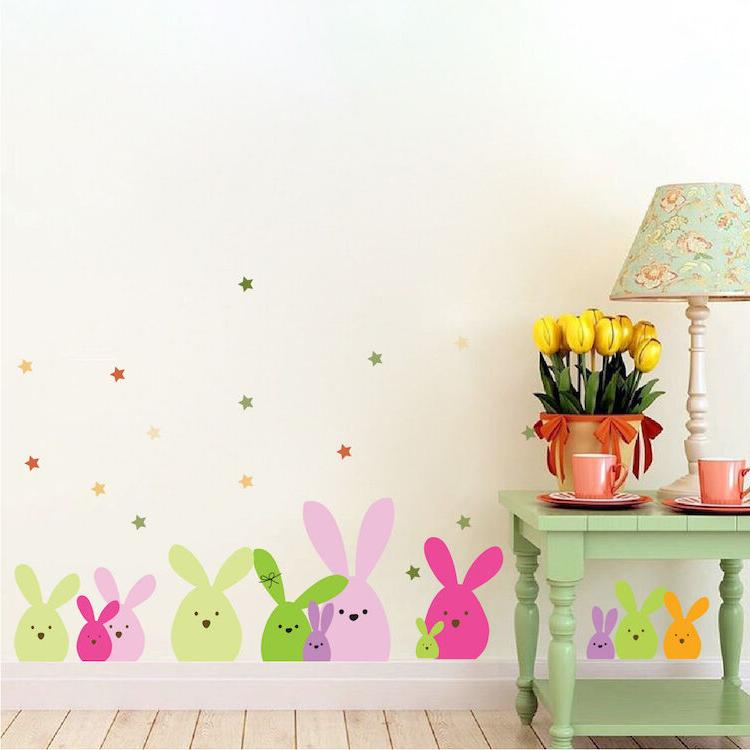 easter bunny wall and window stickers decals
