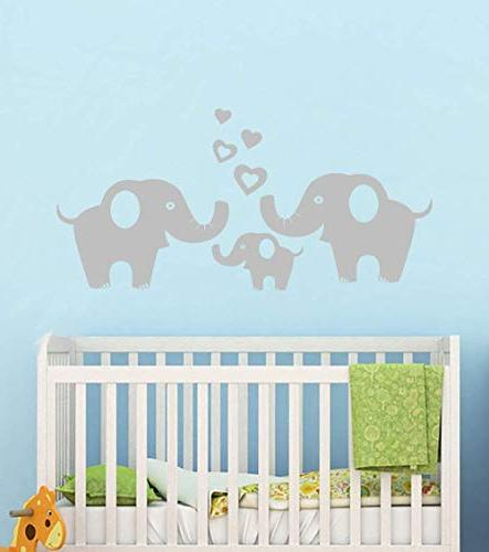 Elephant Removable Vinyl Elephant Sticker Décor