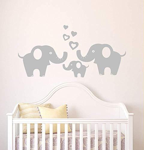 Elephant Wall Decal Removable Vinyl Art Elephant Wall Unisex Sticker Wall Décor