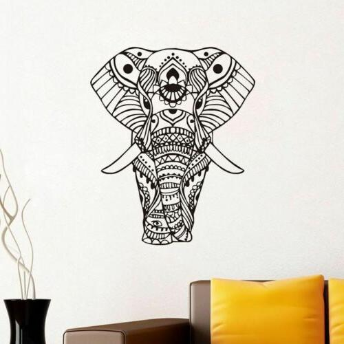 Elephant Flower Vinyl Decor