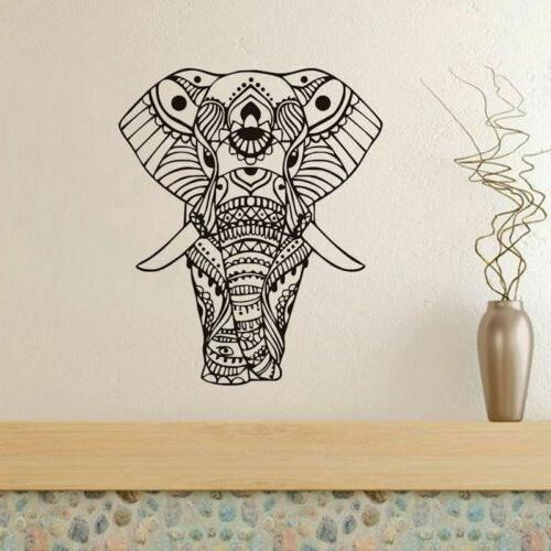 Elephant Flower Decals Vinyl Bedroom Decor