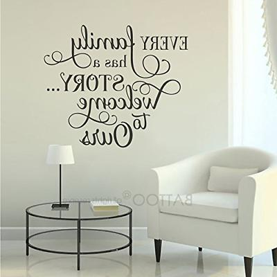BATTOO a Story Ours, Family Wall Decal Quotes Photo