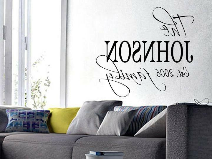 family name est personalized wall art decal