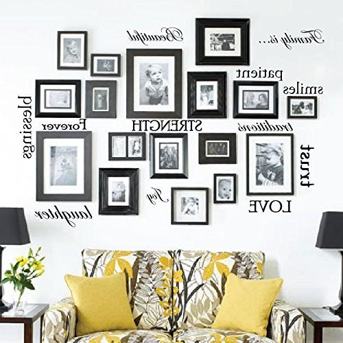 family quote words vinyl wall