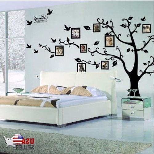 Family Tree Wall Sticker Vinyl Picture Black