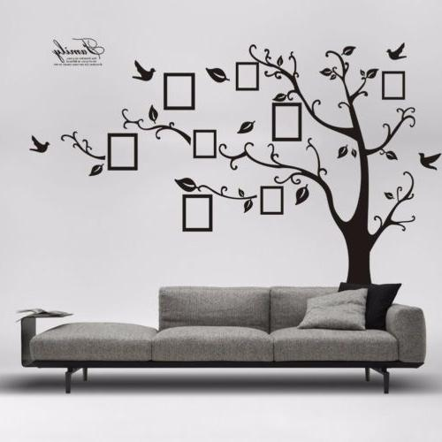 Family Tree Wall Sticker Large Vinyl Photo Picture Frame