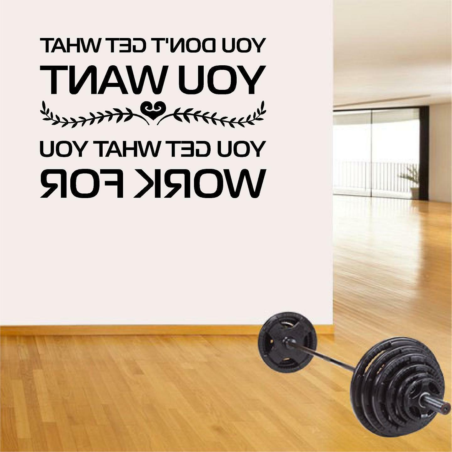 Fitness Wall Decals. Gym. Exercise: You don't get what you w