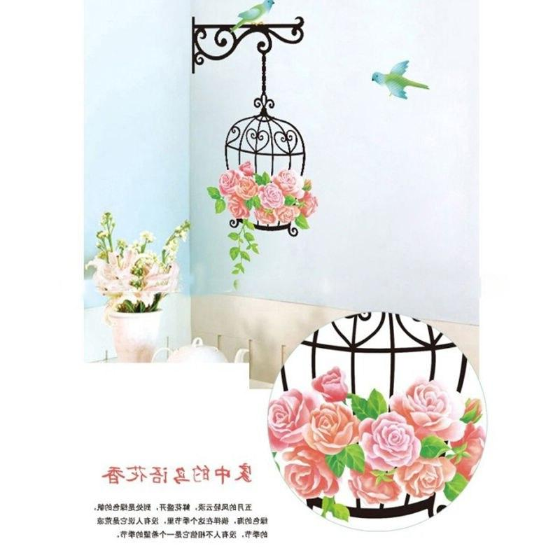 Flower Bird Cage <font><b>Decal</b></font>