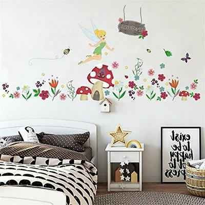 ufengke Flower Fairy Stickers House Decals Art Decor for