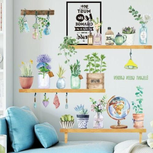 Flower Potted Plant Home Living Vinyl Stickers Mural