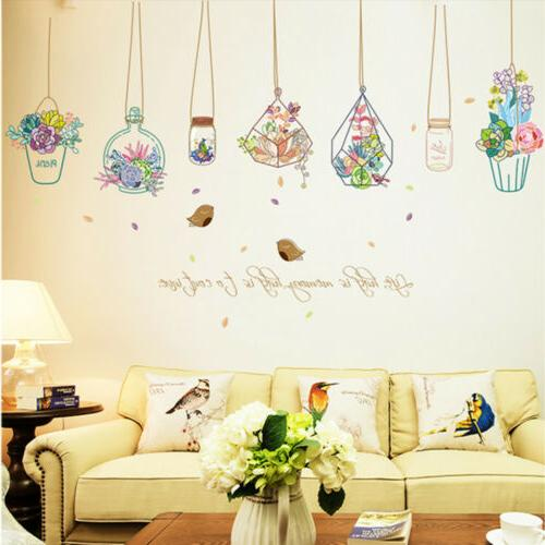 Flowers Stickers Removable DIY Decals