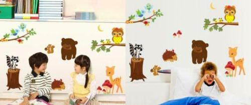 forest animal wall decals for kids rooms