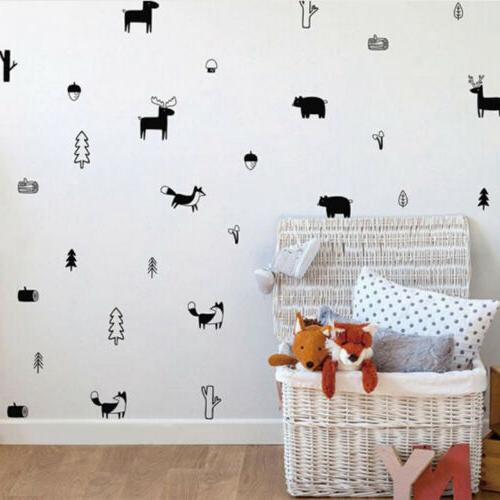 forest animal wall decals woodland nursery vinyl