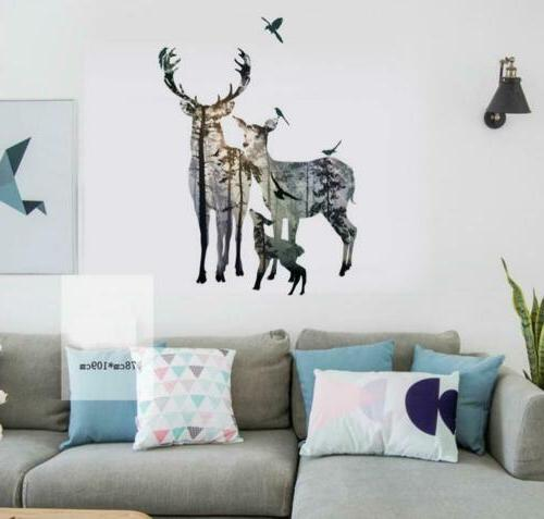 BIBITIME Forest Silhouette Wall