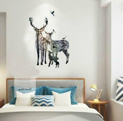 BIBITIME Forest Silhouette Wall Reference,