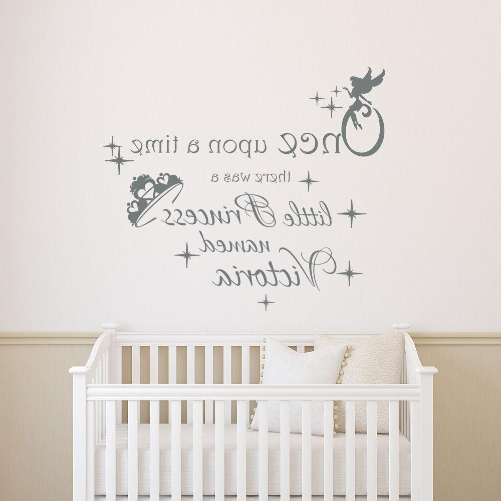 girls name wall decals once upon a
