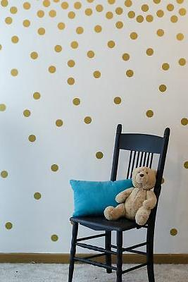 gold wall decal dots easy