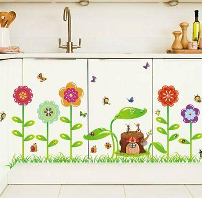 BIBITIME Flower Animal Decal House Ants Bees