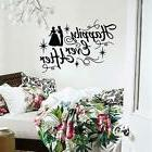 Happily Ever After Wall Decal Vinyl Art Cinderella Silhouett