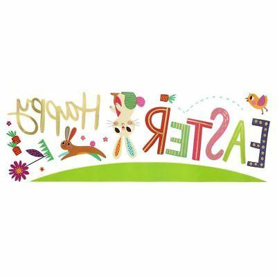 happy easter bunny spring wall decals decorations