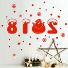 Happy New Year 2018 Merry Christmas Wall Sticker Home Shop W