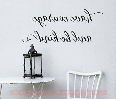 have courage be kind wall decals inspirational