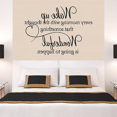 heart family wonderful bedroom quote wall stickers
