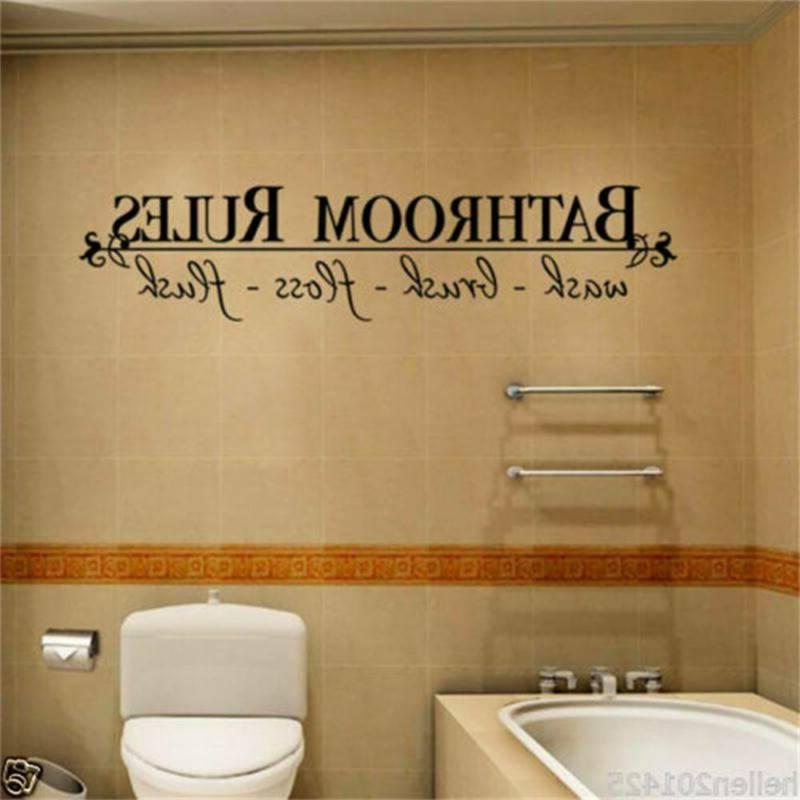 Home Sticker Quotes Bathroom Wall Decor Decal us