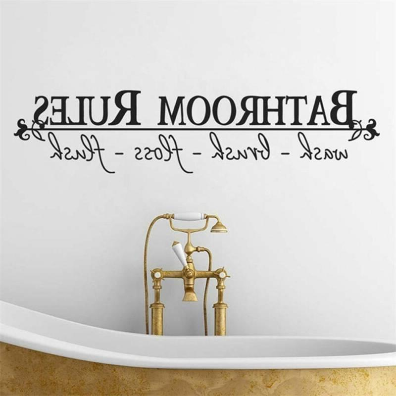 home art wall sticker quotes bathroom rules