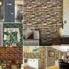 Hot 3D Brick Stone Rustic Effect Self-adhesive Wall Paper St