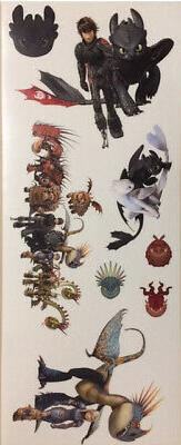 HOW TO TRAIN YOUR DRAGON wall stickers 8 decals Hidden World