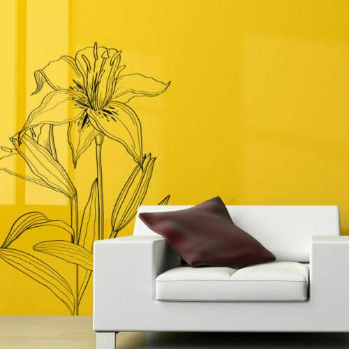 i183 wall decal sticker lilies flowers plants