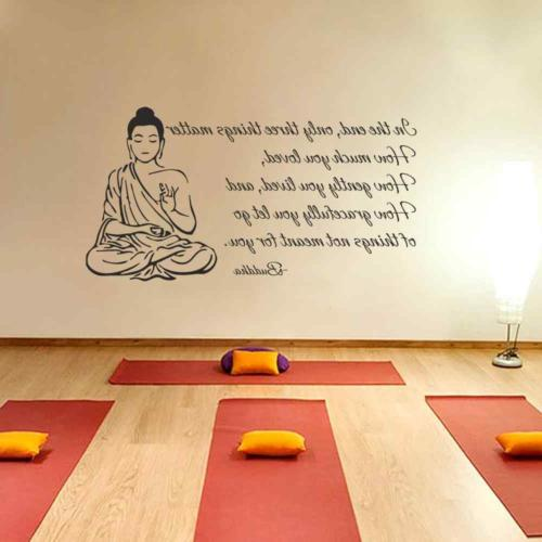 BATTOO Indian Buddha Decal Sticker Only Three Things Religious OM