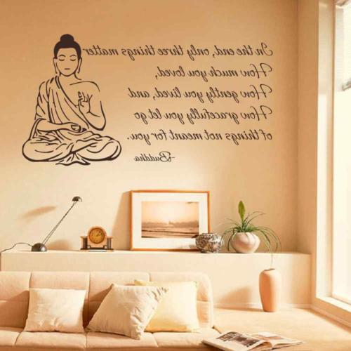 BATTOO Indian Buddha Wall Decal Sticker Three Matter OM