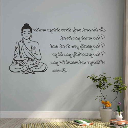 indian buddha wall decal sticker only three