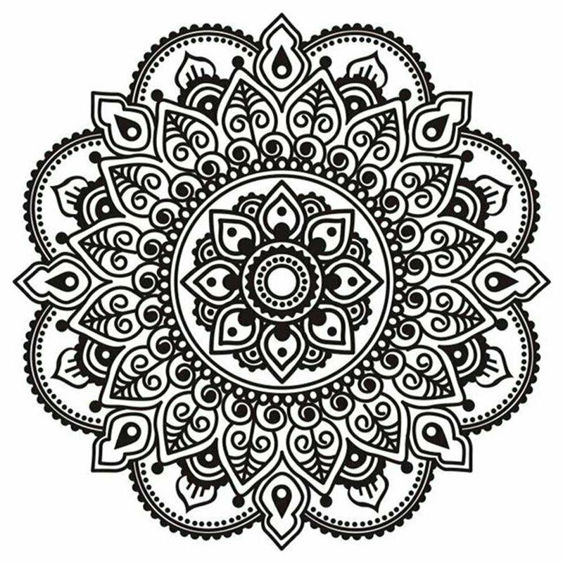 Indian Mandala Removable Decal Window Home