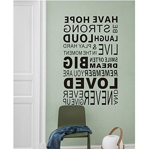 Quotes,Word Wall Art Sticker Wall Mural Paint