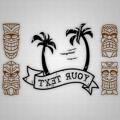 island theme wall decals tiki theme wall
