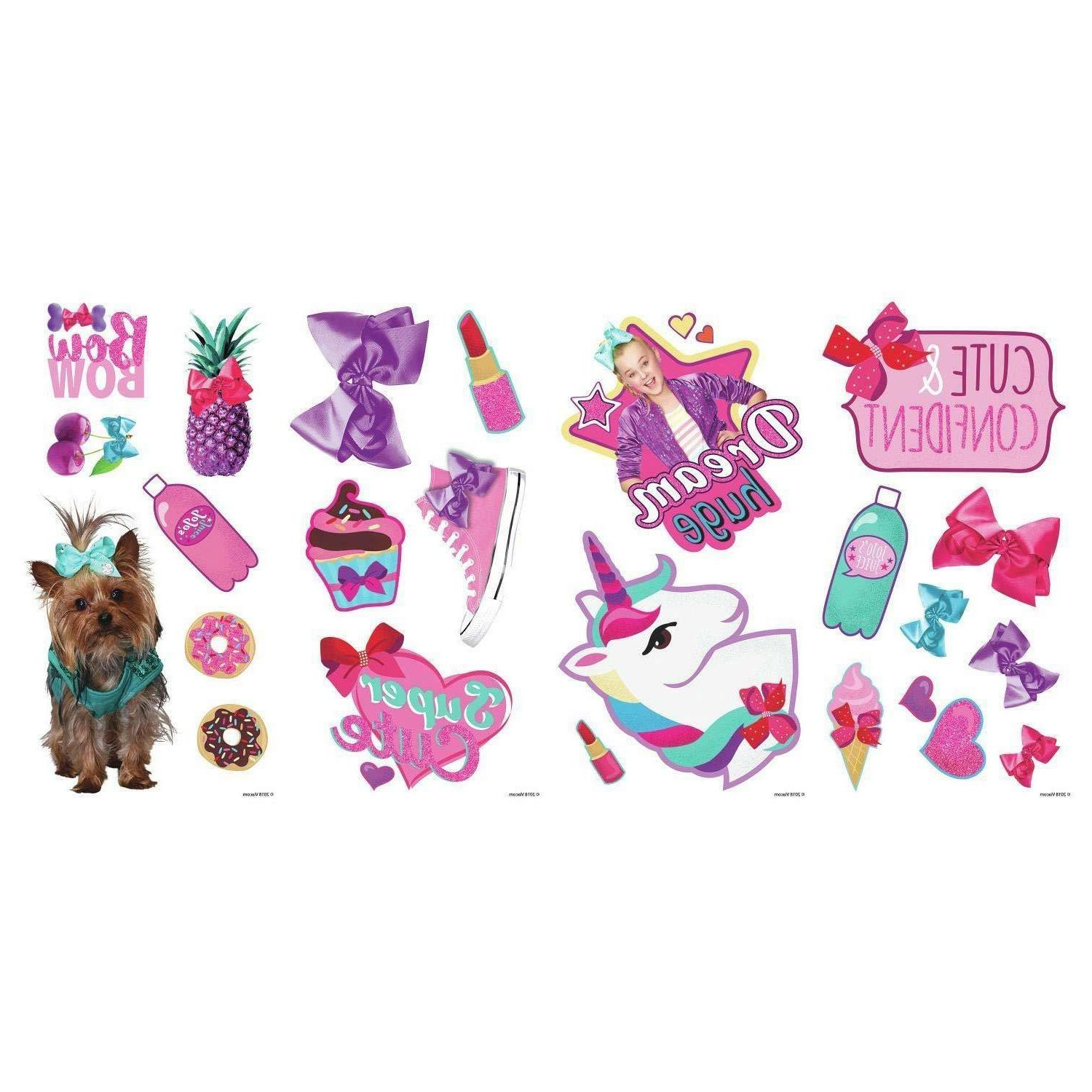 JOJO SIWA CUTE CONFIDENT Wall DeCaLS Bow Bow Dance Room Deco