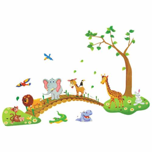 Jungle Animal Wall Decals Nursery Baby US
