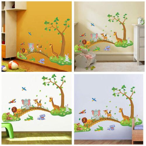 Jungle Animal Removable Wall Decals US