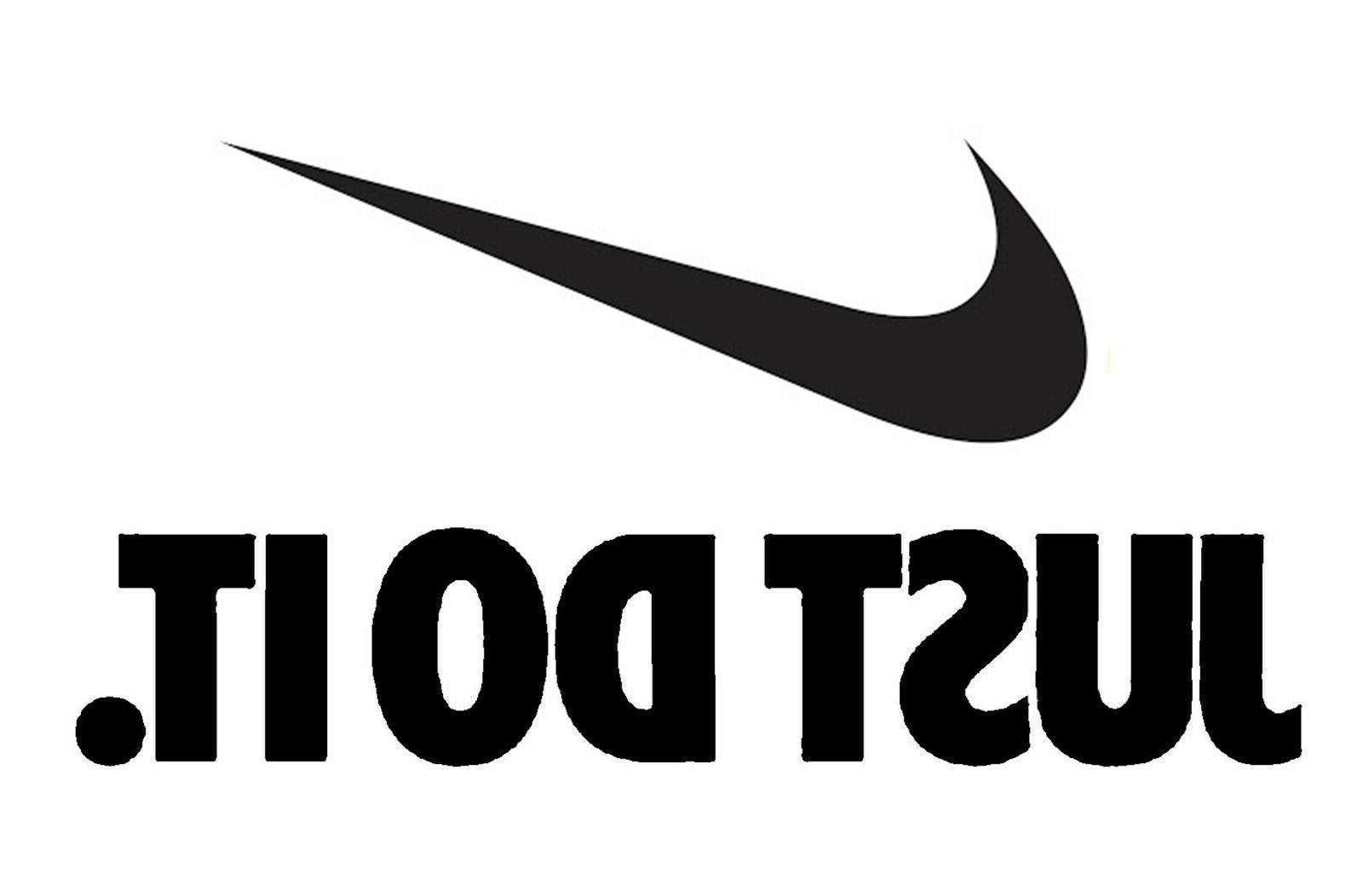 just do it nike swoosh wall decal