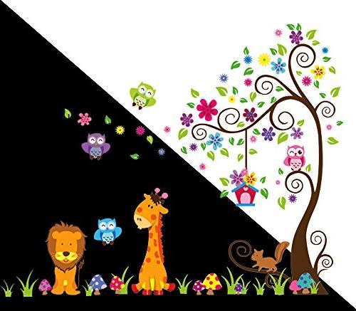 DEKOSH Kids Peel Stick Decal, Colorful Lion Unisex Sticker for Nursery, Playroom Mural