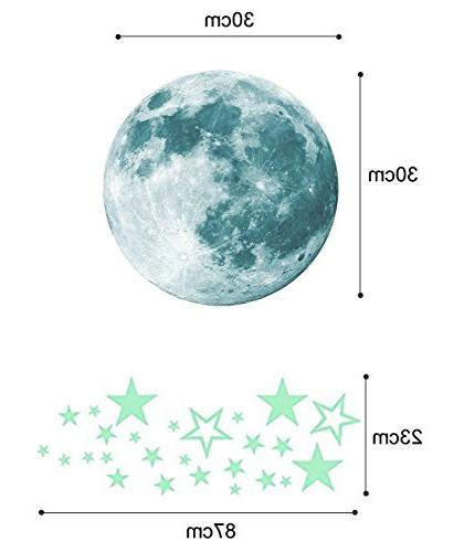 Marsway Kids Removable Moon Stars The Dark Sticker Room Wall Stickers