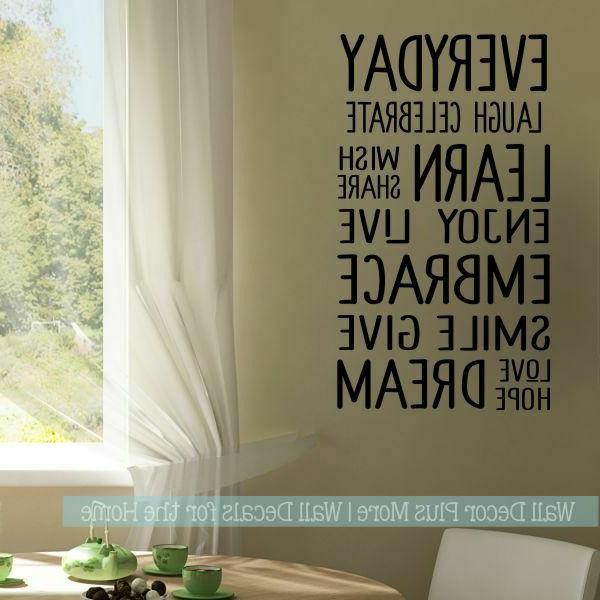 Kids Room Wall Decor Words Subway Vinyl Wall Decals