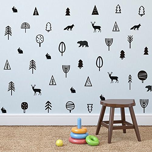 kids trees woodland animal wall