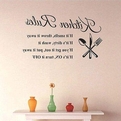 Kitchen Rules Quote Wall Stickers Removable